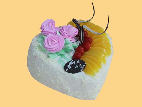 心形奶油生日蛋糕->>蛋糕系列